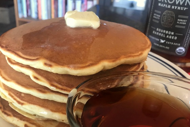 Buttermilk Ricotta Pancakes and Bacon
