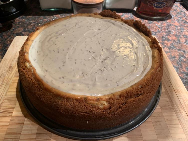 Ariel's Lavender Honey Vanilla Cheesecake